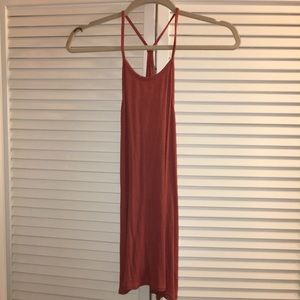 Small old navy tank in burnt pink/coral color.